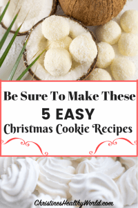 Who doesn't love Christmas cookies? Here are 5 of the best, simple recipes that are healthy, beautiful and easy to make. Great for family, to give as gifts, or to bring to a Christmas Holiday party.