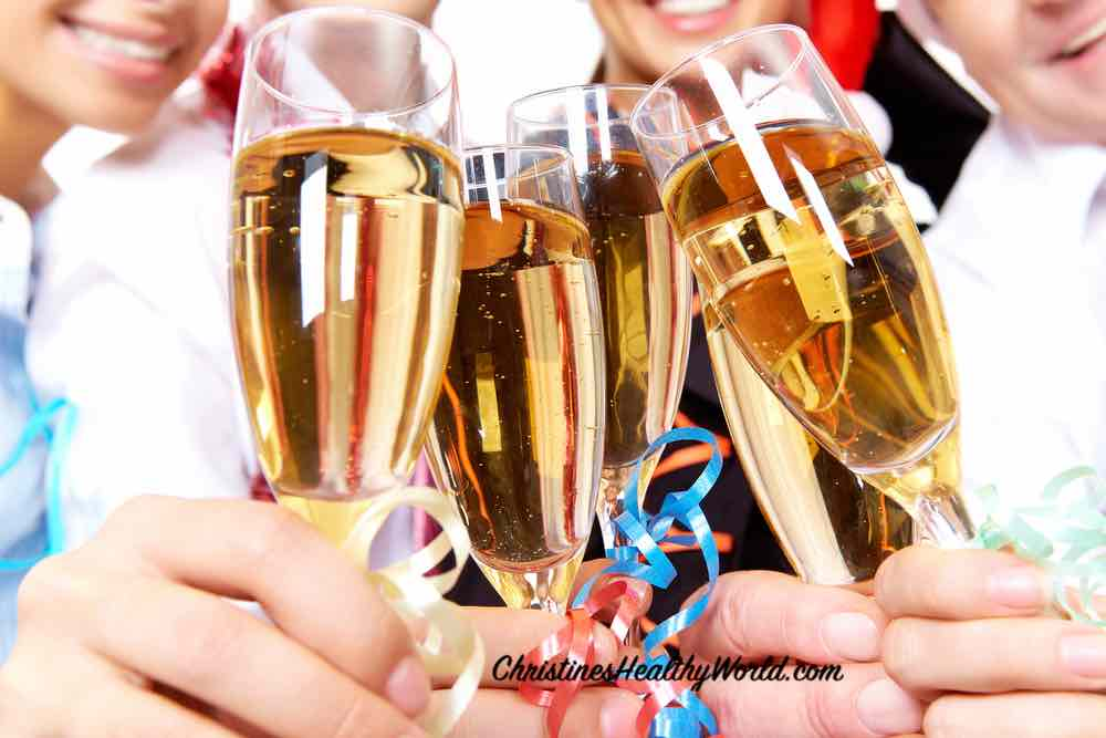 how not to put on weight during holidays champagne toast