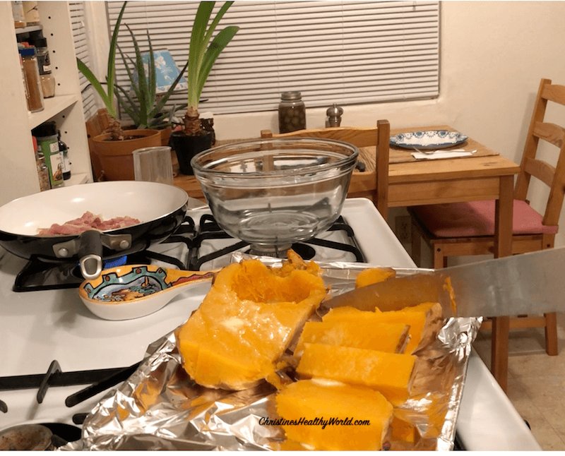 Roast Butternut Squash Whole in Oven Slice