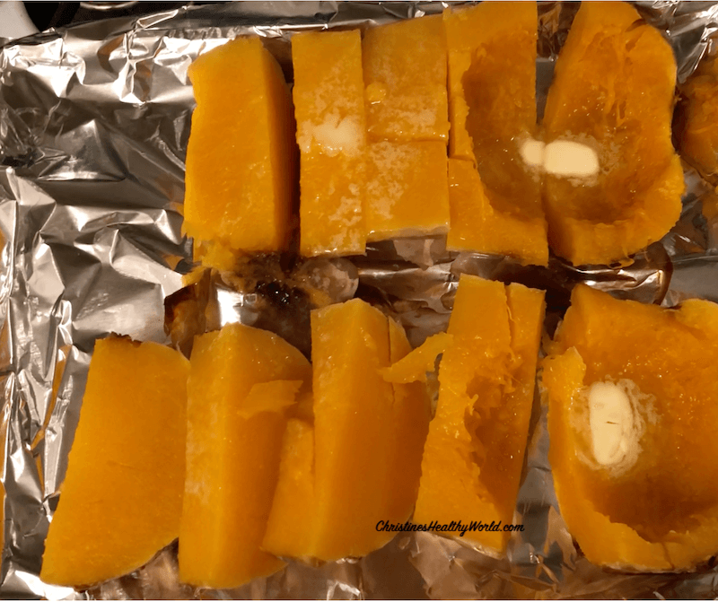 Roast Butternut Squash in Over Sliced to Serve