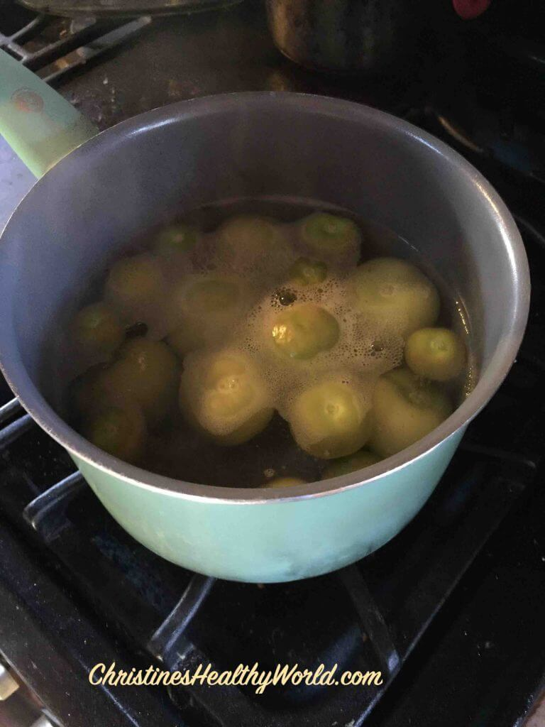 Tomatillos cooked