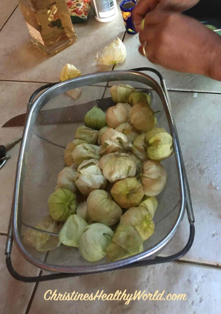 tomatillos peel before cooking
