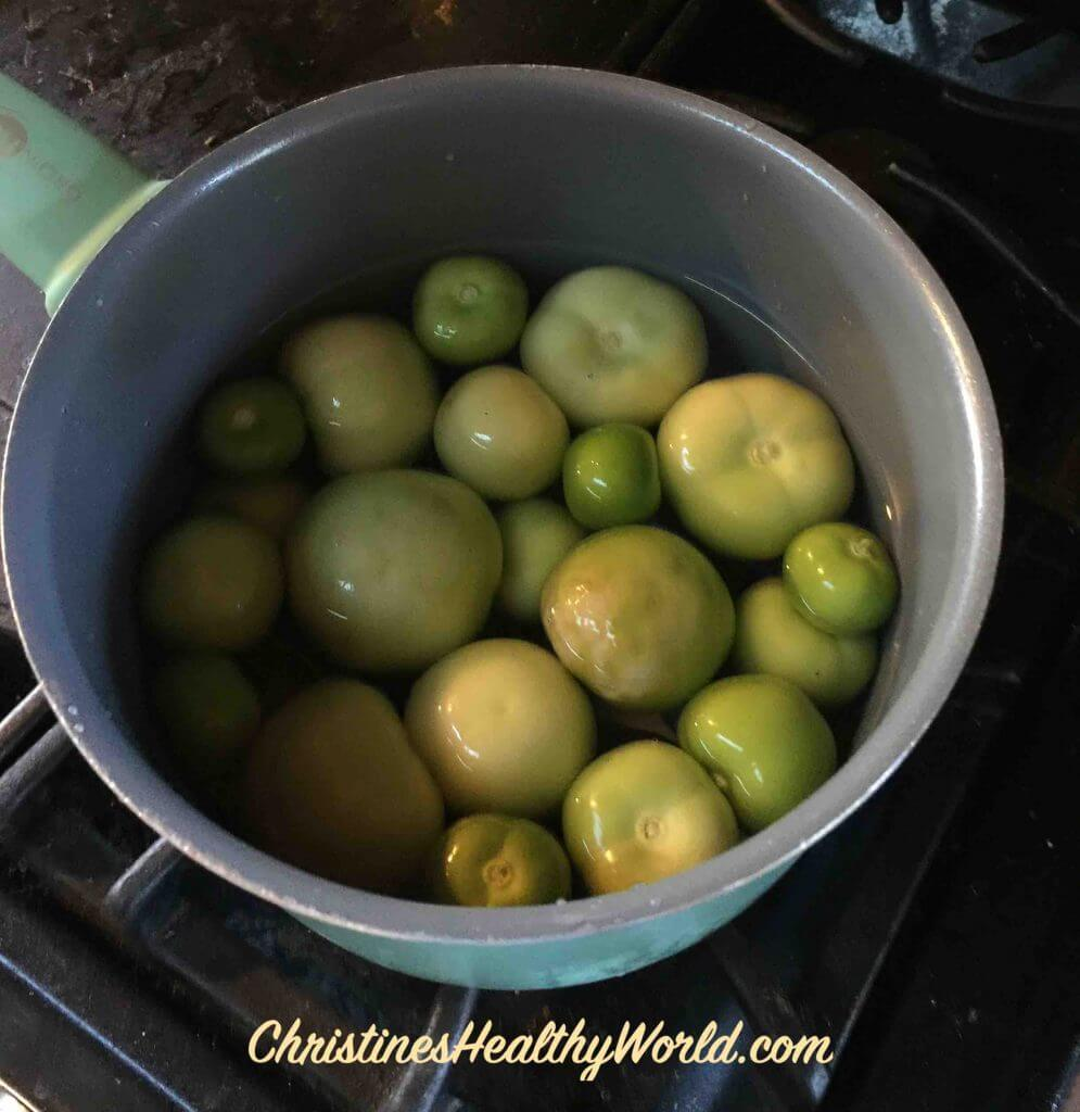 Tomatillos in water