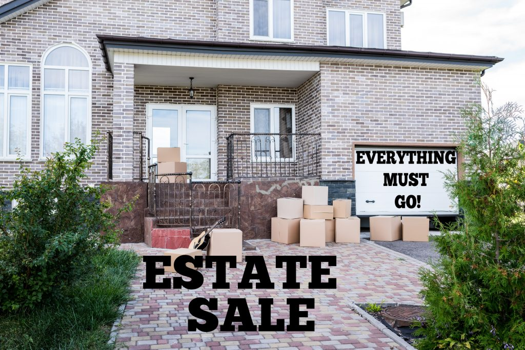 Declutter and downsize your stuff to get rid of everything by having an estate sale